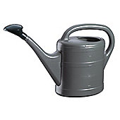 5L Anthracite Grey Plastic Garden Watering Can with Rose