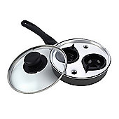Pendeford 2 Cup Egg Poacher With Glass Lid, 18cm