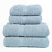 Dreamscene Luxury Egyptian Cotton Towel Bale 4 Piece Set - Aqua