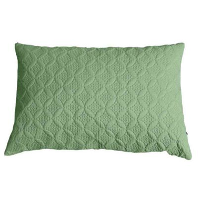 Homescapes Ultrasonic Green Quilted Embossed Cushion Cover, 50 x 75 cm