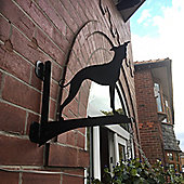 Made O'Metal Whippet Hanging Basket Bracket