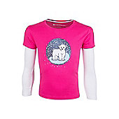 Mountain Warehouse Polar Bear Snowglobe Double Sleeve Kids T-Shirt - Pink