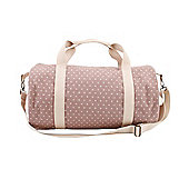 Lilac Polka Dot Duffle Bag