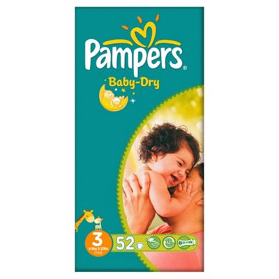Pampers Baby Dry Size 3 Essential Pack - 52 nappies