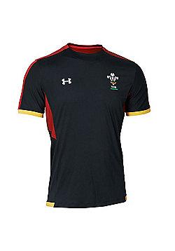 Under Armour Wales Rugby WRU Training Tee 15/16 - Black - Black