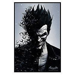 Gloss Black Framed Batman Arkham Origins Joker Poster