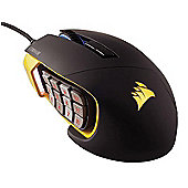 Corsair Gaming SCIMITAR RGB Optical MOBA/MMO 12000dpi Gaming Mouse - Yellow-Black