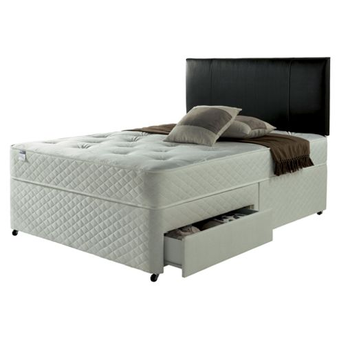 Silentnight Taplow Double Divan Bed with 2 Drawers, Miracoil Tufted Ortho
