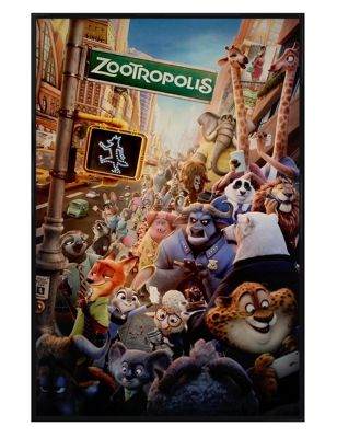 Gloss Black Framed Zootropolis Movie One Sheet Poster