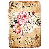 iPad Mini 4 Premium Vintage Floral Illustration Slimline Flip Case