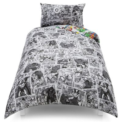Buy Marvel Comic Pop News Single Duvet Set TESCO EXCLUSIVE from ... : marvel quilt cover - Adamdwight.com