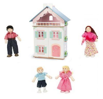 Le Toy Van La Maison De Juliette Dolls House and My Family of 4 Dolls