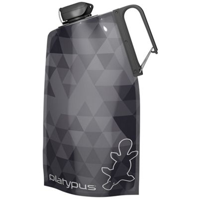 Platypus DuoLock Soft Collapsible Bottle 1L Grey Prisms