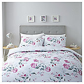 Pink/Grey Shadow Floral Duvet Set Double