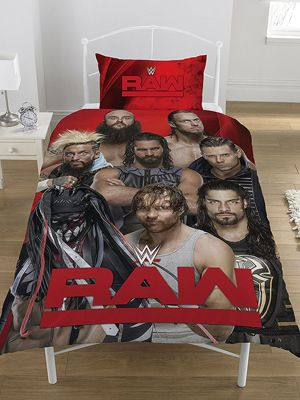 WWE Raw V Smackdown Single Duvet Cover Set