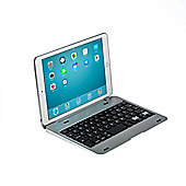 iPad Mini 1/2/3 Clamshell Bluetooth Keyboard Case in Silver