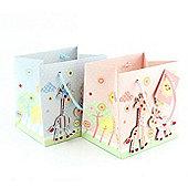 Pink Giraffe Baby Gift Bag
