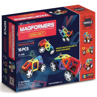 Magformers Rainbow 16 Piece Wow Set Construction Toy