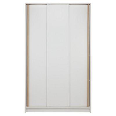 Trenton 3 Door Sliding Wardrobe White/Oak