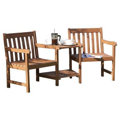 Rowlinson Wooden Garden Companion Seat, 2 seater