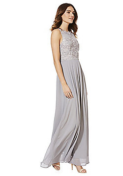 AX Paris Lace Bodice Maxi Dress - Grey