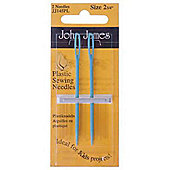 Plastic Sewing Needles Pk 2