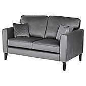 Fox & Ivy Dexter Velvet Medium 2.5 Seater Sofa, Grey