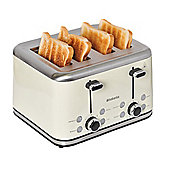 Brabantia BBEK1031-A 4 Slice Toaster - Almond & Brushed Stainless Steel