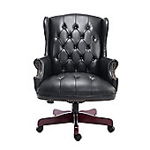 Homcom Luxury Rolling Executive High Back Office Chair PU Leather Padded Swivel Armchair (Black)