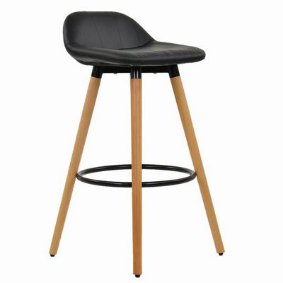 Kennedy Wooden Bar Stool Black