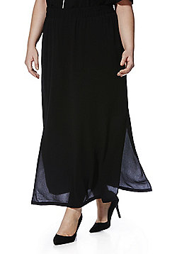 Junarose Plus Size Maxi Skirt - Black