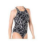 Maru Spinner Etro Back Swimsuit - Black/White - Black