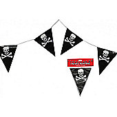 5m Pirate Bunting Party Flag Pvc Banner Skull & Crossbones Party Theme Decoration