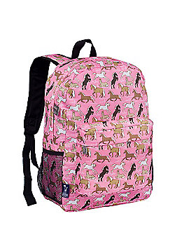 Children's Backpack with Front Pocket - Pink Horses