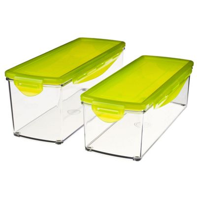 JML Nicer Dicer Plus: Storage Containers with Locking Stay-fresh Lids (Set of 2)