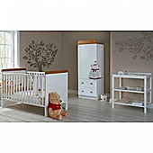 OBaby Winnie the Pooh Single 3pc Room Set (White)