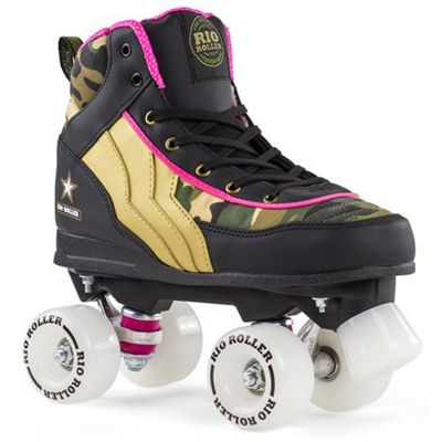 Rio Roller Camo Ltd Edition Quad Roller Skates UK 3