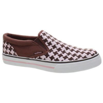 Gallaz Bloom Pink/Houndstooth Womens Classic Slip On Shoe