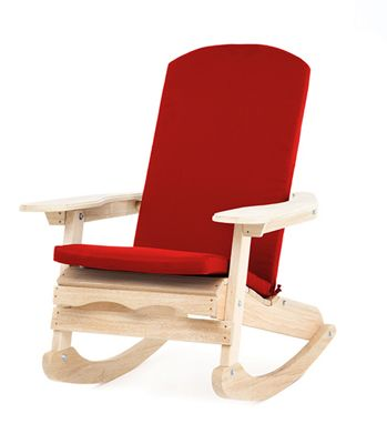 Gardenista Water Resistant Seat Pad for Adirondack Chair - Red