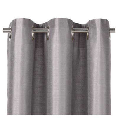 Tesco Faux Silk Lined Eyelet Curtains W163xL229cm (64x90