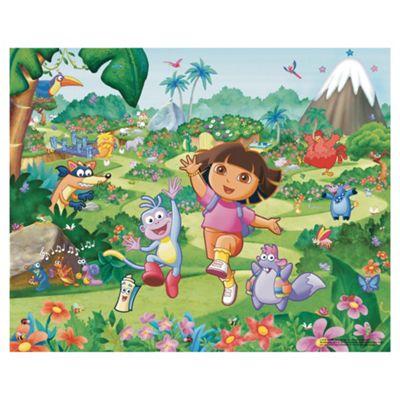 Buy dora the explorer wallpaper mural 8ft x 10ft from our for Dora the explorer wall mural