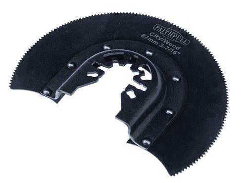 Faithfull Multi-Functional Tool CRV Radial Blade Wood Wavy Set 87mm