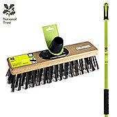 """""""Charles Bentley National Trust Garden 12"""""""" Steel Wire Broom Sweeping Brush With Handle"""""""