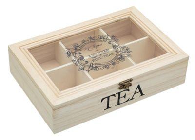 Le'Xpress Wooden Tea Box, 26x17x6cm