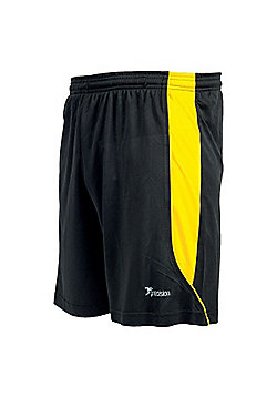 Precision Training Men'S Football Real Short Training Short Black/Yellow - Black & Yellow
