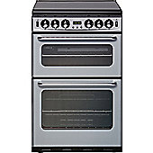 New-World NH550TSIDLMSIL 550mm Twin Cavity Gas Cooker FSD Silver