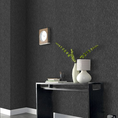 Boutique Heston Black Wallpaper