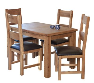 Furniture Link Hampshire 5 Piece Extending Dining Collection
