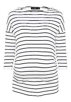 F&F Striped 3/4 Sleeve Maternity Top - Multi White