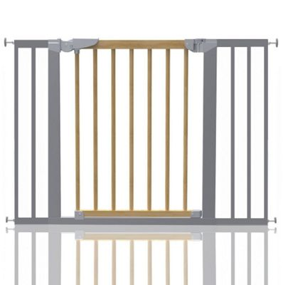 Safetots Beechwood and Metal Pressure Fit Gate 103.2 - 110.6cm